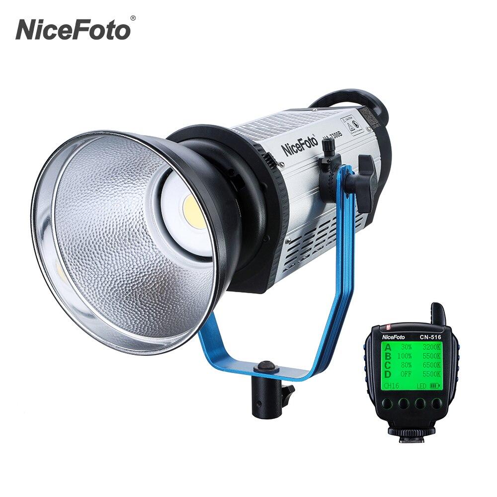NiceFoto HA-2300B 230W professionnel 5500K lumière du jour COB LED lumière vidéo Film lumière équipement photographique éclairage de Studio