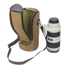Bolsa grossa da lente da câmera, à prova dágua, estojo acolchoado para canon 70 200/2.8 nikon 80 400/2. lente 8 dslr com alça de ombro