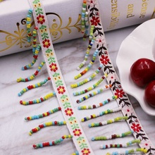 1Yard Ethnic Silk Tassel Fringe Trim Embroidery Lace Tassels for Jewelry Diy Sewing Clothing accessories Fabric Ribbon
