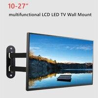 For 10 27 Rotated TV Wall Bracket Tilt Swivel Plasma TV Wall Holder LCD LED TV Wall Mount PC Monitor TV Holder Universal