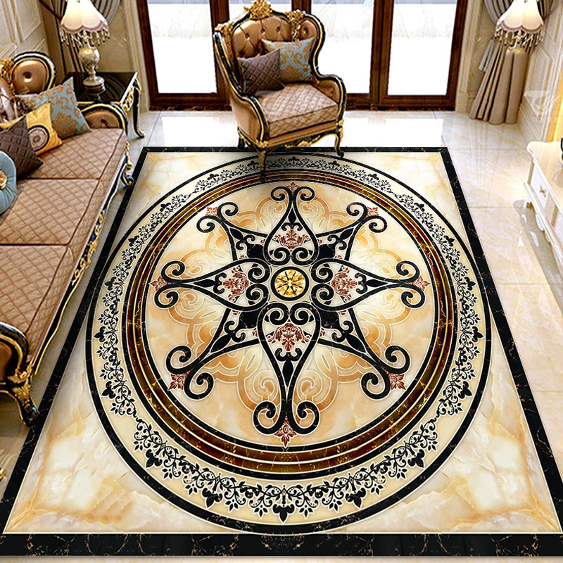 Custom Photo Wallpaper Marble Flower Pattern Floor Decor Stickers Entrance Living Room Bedroom 3D Flooring Mural PVC Wallpaper