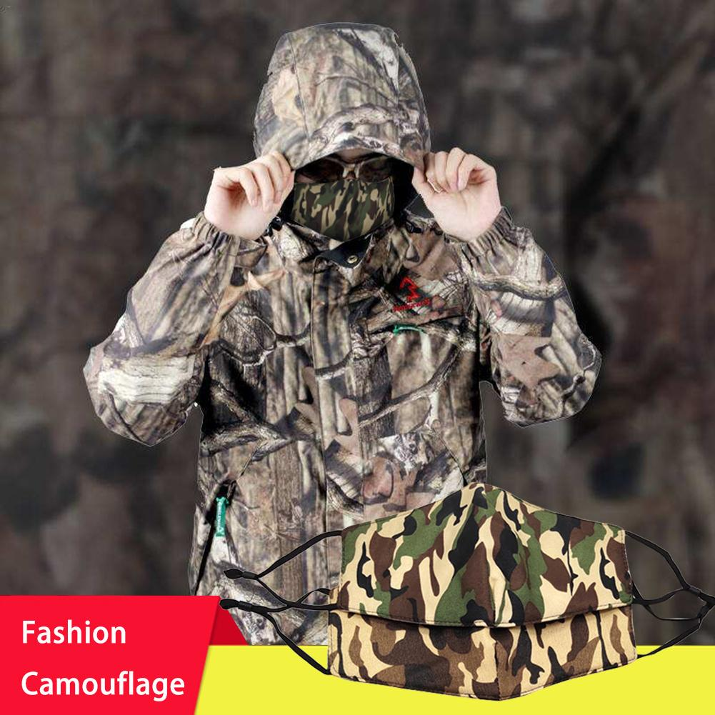 Camouflage Cotton Mask Men Women Mask Dust-Proof Fashionable Windproof Adjustable Buckle Three-dimensional Warm Camouflage Mask