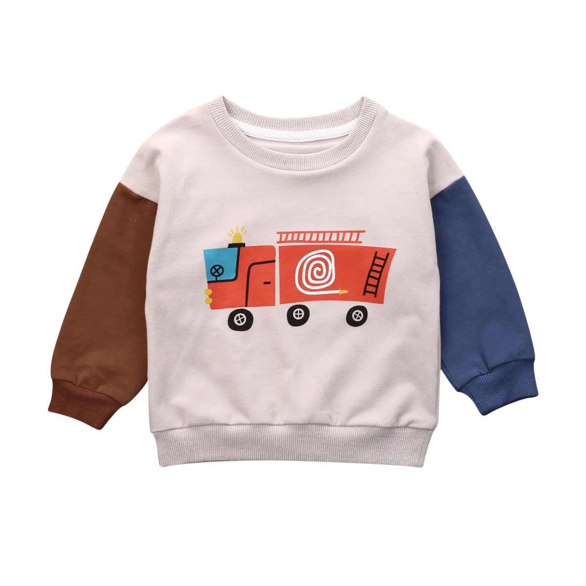 Aktif çocuklar bebek kız erkek spor tişörtü sonbahar kış sıcak kazak egzersiz spor çocuk kazak 0-5Y