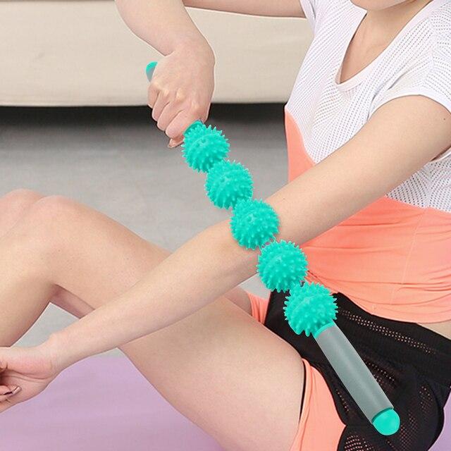 Фото массажная палочка для тренажерного зала йоги расслабляющий ролик