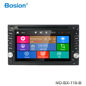 Bosion Universal Car Radio Double 2 Din Car DVD Player GPS Navigation In dash Autoradio Multimedia Player Stereo Head Unit+Map image
