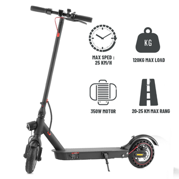 IScooter 350W Scooter eléctrico inteligente plegable longboard Hoverboard Skateboard con luz LED 2 ruedas Patinete Electrico