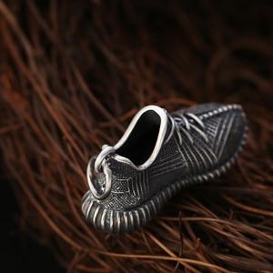 Image 3 - Vintage S925 ayar gümüş takı moda erkekler için Sneakers erkek kadın kadın kolye anahtarlık takı hediye