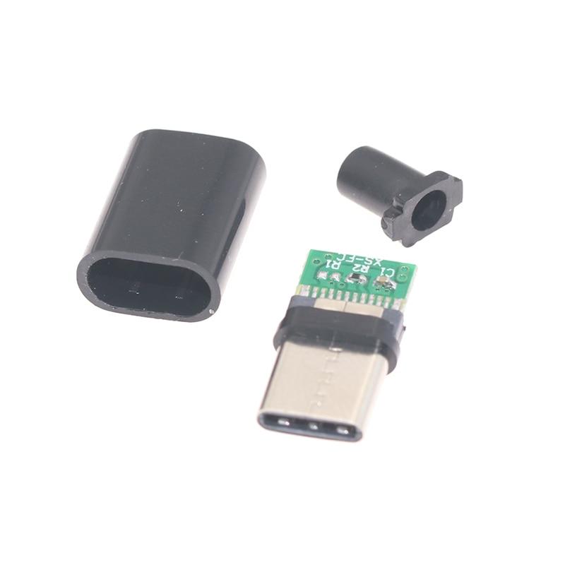 2 pièces/5 pièces TYPE-C USB 3.1 connecteur mâle avec PCB 24pin données de soudage OTG ligne interface bricolage données câble accessoires
