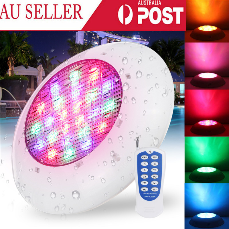46W RGB Led Swimming Pool Light IP68 Waterproof AC12V Outdoor RGB UnderWater Light Pond Led Spotlight With Remote Control