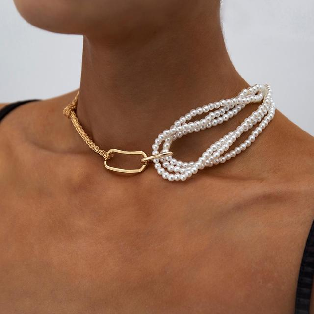 Very Unique pearl and chain wrap necklace 2