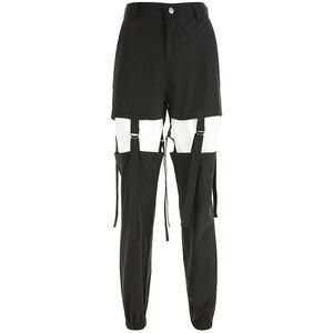 Image 4 - Darlingaga היפ הופ גבוהה מותניים מכנסיים מטען נשים רצים רחוב סגנון מכנסיים אבזם מסלול מכנסיים מתכוונן חלול החוצה Pantalon
