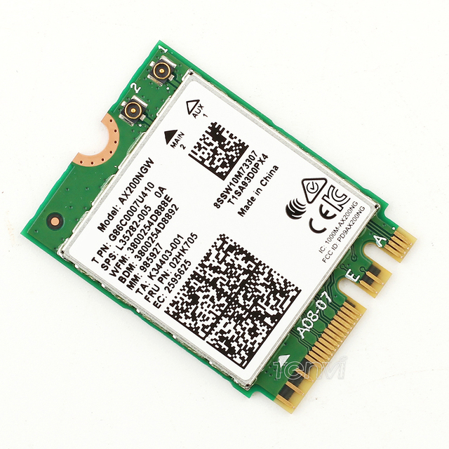 2400Mbps Dual Band Wi-Fi 6 Wireless Wi-Fi  Card Adapter For  AX200NGW NGFF M.2 802.11ax With BT5.0 For AX200ac With Antenna