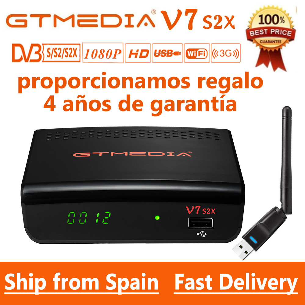 1080P GTmedia V7 S2X DVB-S2 спутниковый приемник с usb wifi FTA gtmedia v7s2x цифровой приемник обновленный Freesat v7s HD без приложения