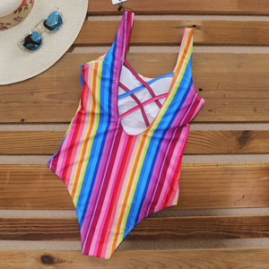 Image 5 - Riseado Sport One Piece Swimsuit Women Competition Swimwear 2020 Swim Cross Bandage Swimming Suits for Women U back Bathers
