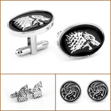 Game Of ThroneCufflinks Hand of the King Buttons A Song of Ice And Fire Stark Dragon Wolf Tie Clips Men Personality Jewelry hot sale 216 autumn winter game of thrones sweatshirt men house stark mens thick jacket a song of ice and fire winter is coming