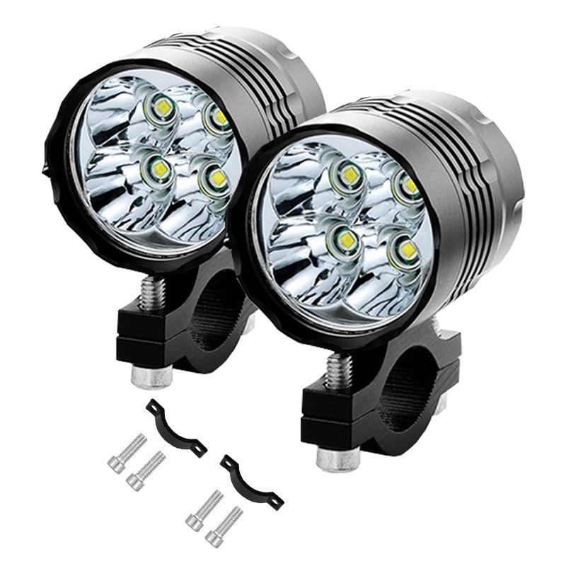 Universal Spotlight Motorcycle LED Shooter Headlight Driving Fog Lamp 40W 12V 2x