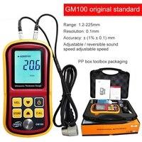 Digital LCD display Ultrasonic Thickness Gauge Metal Testering Measuring Instruments 1.2 to 200MM Sound Velocity Meter GM100