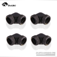 4pcs/lots BYKSKI 90 Degree Fitting use for OD14mm Hard Tube to Hand Compression Copper Fitting Double OD14mm Interface
