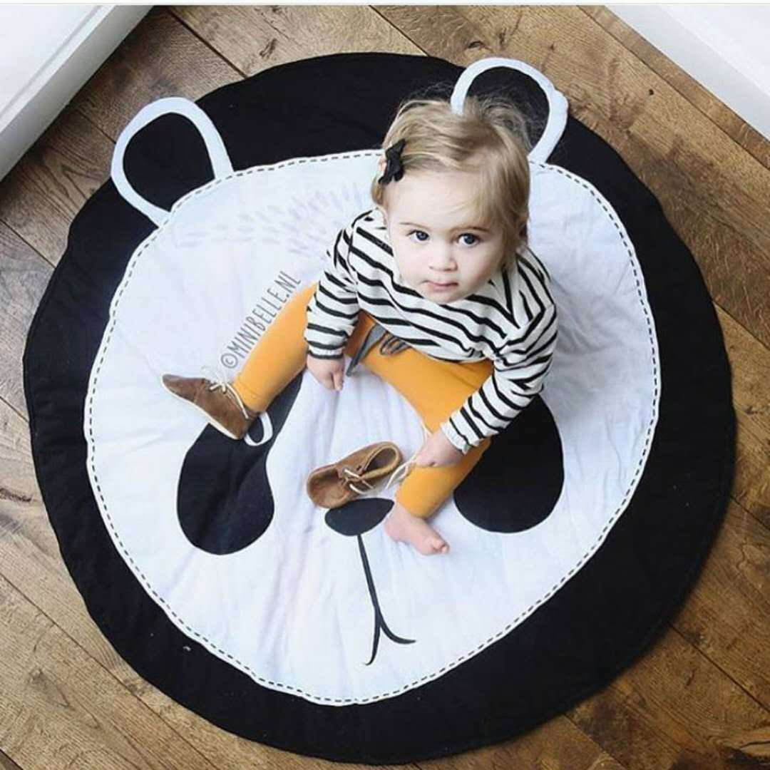 H4f8a16abc84841eca0718ab2765eae1fr Ins Cartoon Baby Play Mats Pad Toddler Kids Crawling Blanket Round Carpet Rug Toys Mat For Children Room Decor Photo Props