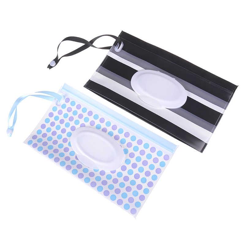 ใหม่ 1PCS แฟชั่นเครื่องสำอางค์กระเป๋า Easy-Carry Snap-สำหรับรถเข็นเด็กผ้าเช็ดทำความสะอาดกระเป๋าถือคลัทช์และทำความสะอาดผ้าเช็ดทำความสะอาดเปียกกระเป๋า