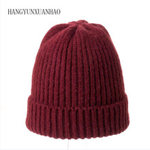 Winter Brand Fur Pompons Female Winter Hat Hat For Women Girl Beanies Cap Women's Knitted Hat Thick Hat skullies Beanies