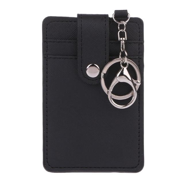 Underleaf Titulaire De Carte DIdentit/é Unisexe Portable Cartes De Bus Cover Case Tool Office Keychain Keyring Tool Bleu