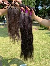 Blackblack brazilan прямые волосы пряди с hd ручной работы застежка