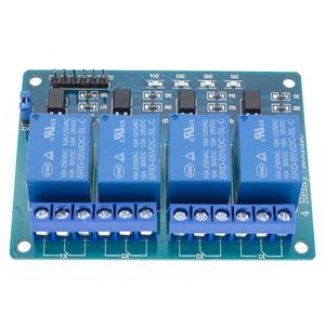Image 5 - 10 adet TENSTAR ROBOT 4 kanal röle modülü 4 kanal röle kontrol panosu için optocoupler ile. Röle çıkışı 4 yönlü röle modülü