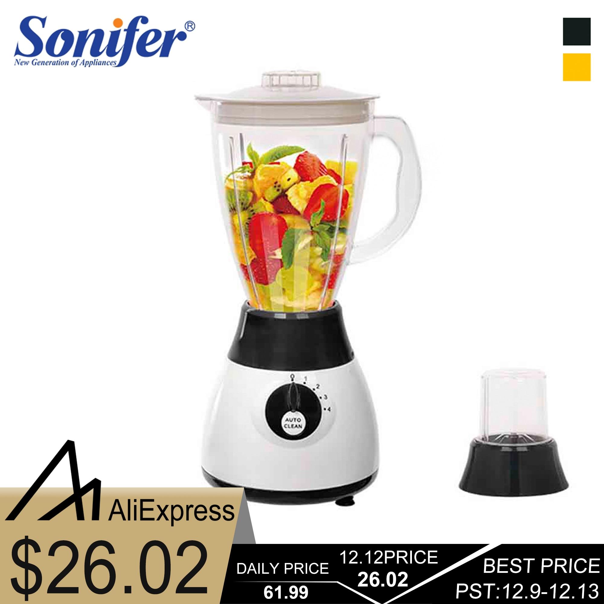 300W Electric Food Processor Professional Blender Mixer Kitchen Appliances Blenders for Electric Fruits and Vegetables Sonifer