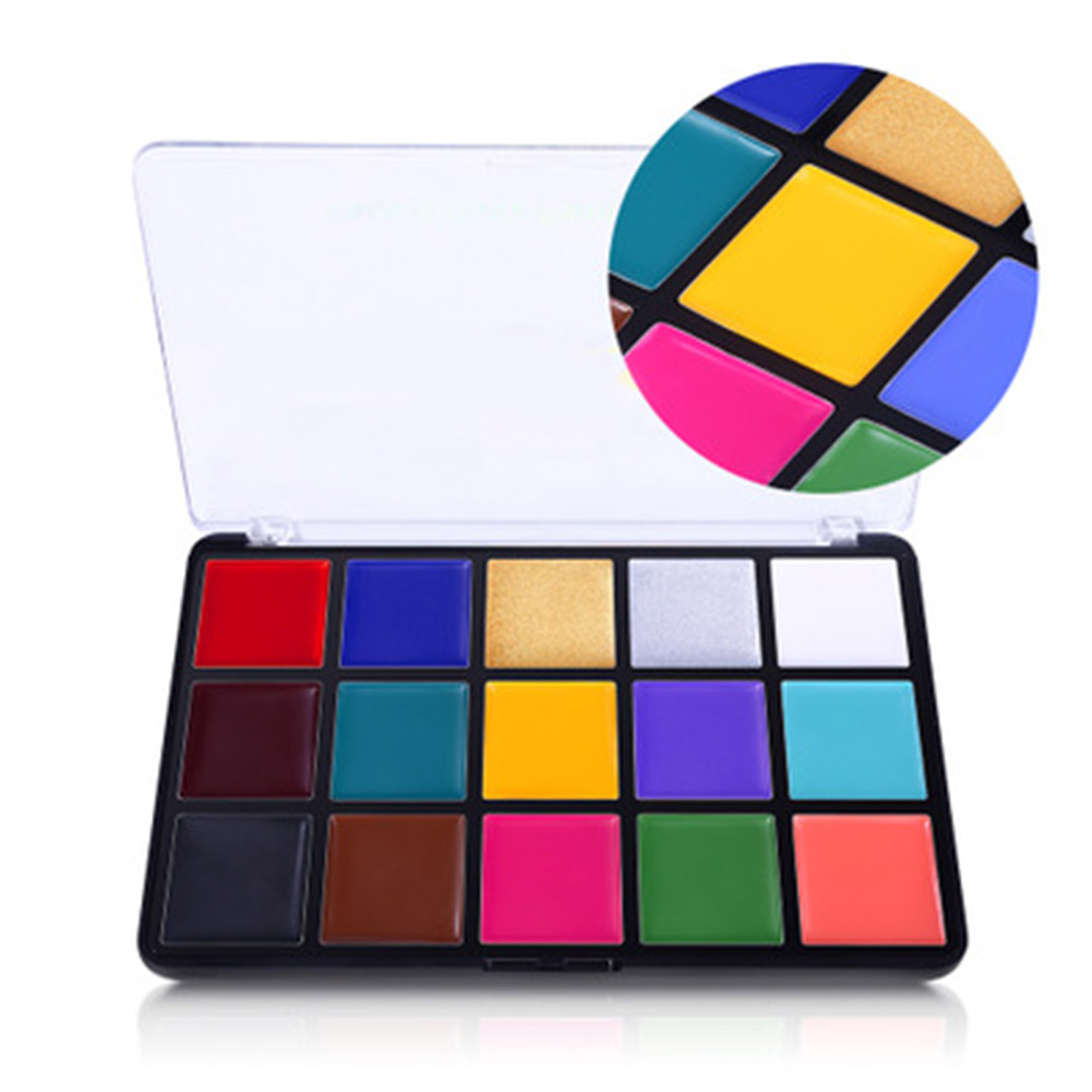 Face Body Paint Set 15 Colors Makeup Palette Washable For Costumes Parties Theater Special Effects And Festivals BV789