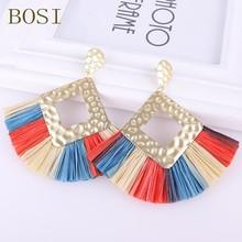 2020 Bohemian Tassel Earrings for Women Luxury brand Dangle Earrings Jewelry Pendientes Earrings Statement Fashion Lafite Fringe