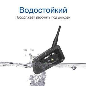 Image 2 - ليكسين R6 خوذة بلوتوث سماعات إنترفون ل 6 الدراجين BT 1 قطعة مقاوم للماء و اللاسلكية موتو البيني MP3