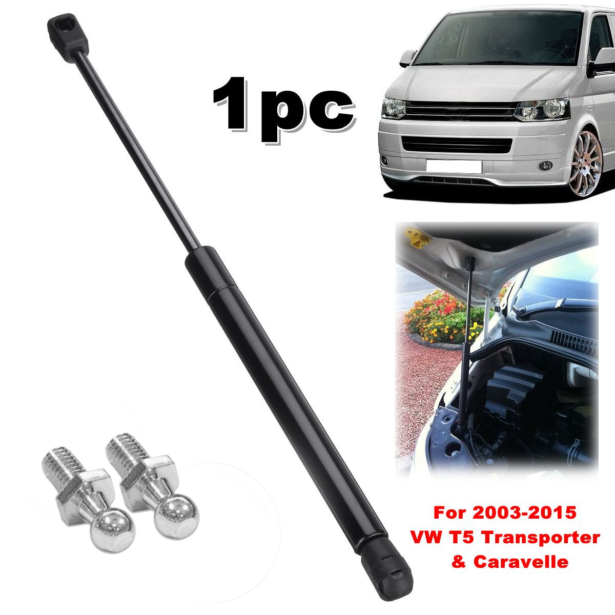 1Pc Front Bonnet Hood Support Gas Strut 7E0823359 For Volkswagen VW T5 Transporter Caravelle 2003 2004 2005 2006 2007 - 2015