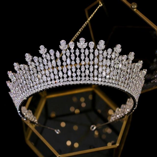 Asnora new корона, crown, tiara, диадема, luxury wedding hair accessories, extended crown hair accessories A00616