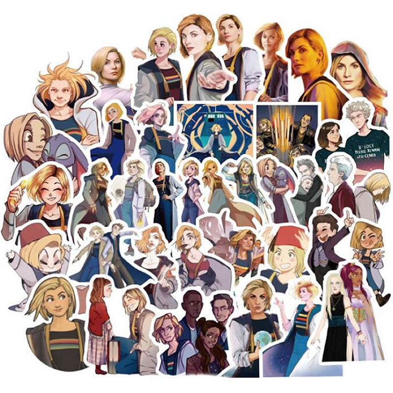10/30/50pcs Pack Cartoon Movie Doctor Who Stickers Waterproof PVC Motorcycle Skateboard Luggage Guitar Kid Toy Cool Vsco Sticker