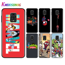 Silicone Black Cover Cartoon Marvel Hero For Xiaomi Redmi Note 9 9S Pro Max 8T 8 7 6 5 Pro 5A 4X 4 Phone Case Bag the little prince with fox silicone phone case for xiaomi redmi note 9 9s max 8t 8 7 6 5 pro 5a 4x 4 soft black cover