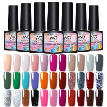MAD DOLL 8ml Autumn Fall Winter New Series Color Nail Gel Polish Soak Off UV Gel Varnish Color varnish Nail Art