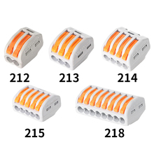 Mini Fast Wire30 50 100pcs Universal Cable wire Connectors 222 TYPE Fast Home Compact wire Connection push in Wiring Terminal Bl cheap CN(Origin) 212 213 214 215 220 V