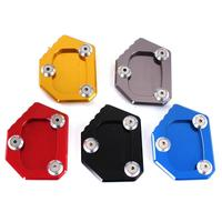 Professional Aluminum Motorcycle Kickstand Side Stand Extension Pad Plate Cover Motorbike Parts for Honda CB400 NC700 CB250F