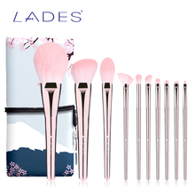 LADES 10PCS Makeup Brushes Set Professional Powder Blusher Make Up Brush Fan Hig
