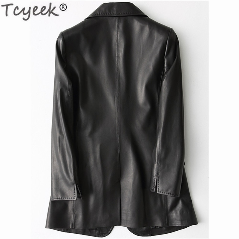 Real Leather Jackets Women Ladies Elegant Clothes Natural Sheepskin Coat Female Genuine Leather Spring Outwear LWL1430