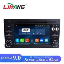 LJHANG 2 Din Автомобильный dvd-плеер Android 9,0 для Porsche Cayenne 2003-2010 gps стерео Автомагнитола Восьмиядерный 4 Гб ram 64 Гб rom wifi авто