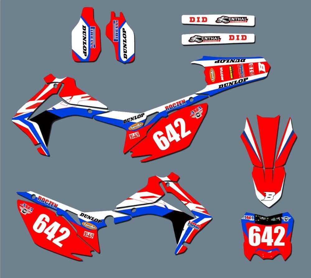 6 видов стилей мотоцикл Графика наклейки для Honda CRF250R CRF250 2014 2015 2016 2017 CRF 450 CRF450R 2013 2014 2015 2016