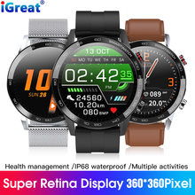 L16 Smart Watch Men ECG PPG 2020 New Smartwatch IP68 Bluetooth Phone Watch Blood Pressure Heart Rate Fitness Tracker VS L13 L11(China)