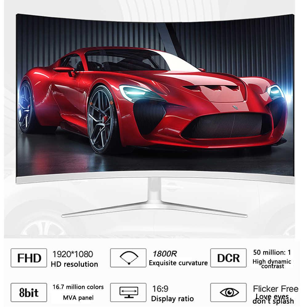 داسكا 24 بوصة IPS شاشات كريستال بلورية HD 1080P LED شاشة عرض كمبيوتر مسابقة الألعاب منحني عريضة 16: 9 VGA/HDMI العرض