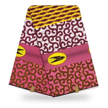 Ankara African 100% cotton ankara wax Prints Fabric Ghana Wax High Quality Real Nigeria Wax Fabric 6yards 2019 new arrival nigeria ghana 100