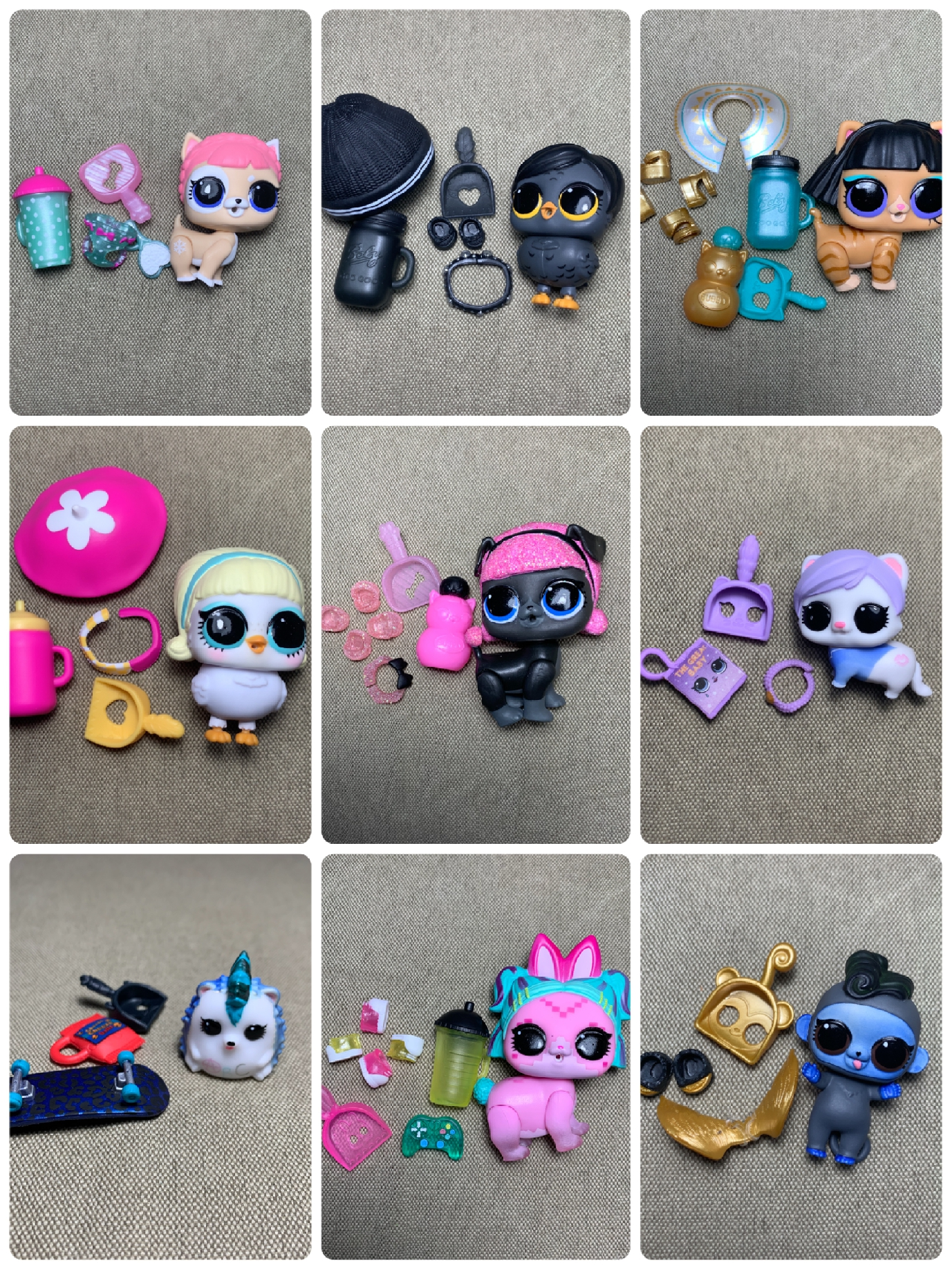 LOL Doll Surprise Original Pet Accessories Water Spray Pee Urine  Dolls Action Figure Model Girl Christmas Gift Toy For Children