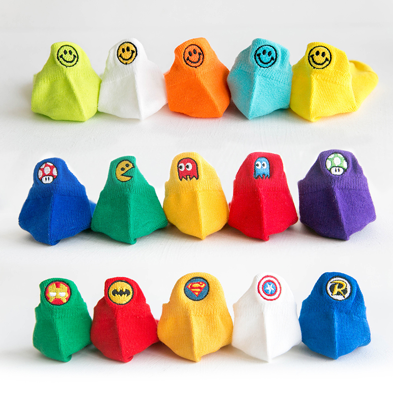 P201 Kids Boys Socks Colorful Teenagers Korean Cotton Socks Cute Cartoon For  Girl Toddler Crew Socks 5 Pairs / Pack