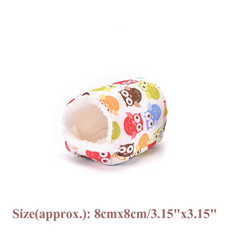 Warm Soft Comfortable Pet Nest House Small Animals Sleeper Animal Cave For Hamster Squirrel Guinea Pig Rodents Cages
