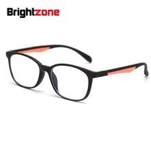 Brightzone Tr90 близорукий Рамка Рецепт; очки для мужчин и женщин компьютер прозрачный оптический анти голубой свет очки для зрения